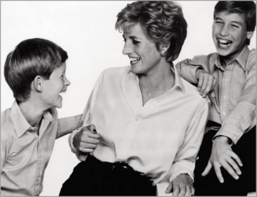 © John Swannell - Diana Princess of Wales, Prince Harry & Prince William - 31-Studio Platinum Print
